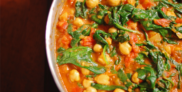 A Hearty Slow Cooked Vegetable and Chickpea Curry
