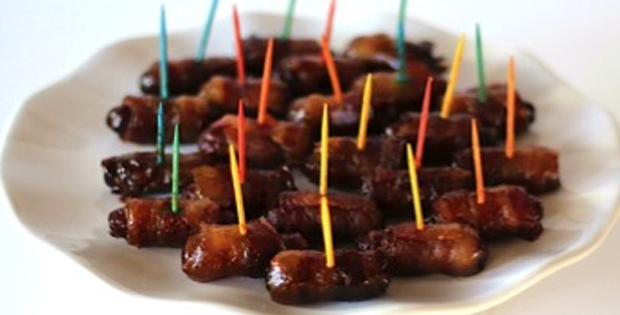 A Very Appetizing Crock Pot Bacon Wrapped Smokies