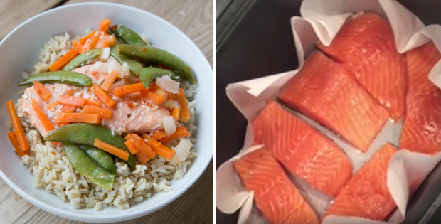 Slow Cooker Sweet Chili Salmon With Asian Veggies [VIDEO]