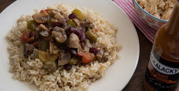 A Super Healthy Slow Cooker Vegetarian Gumbo