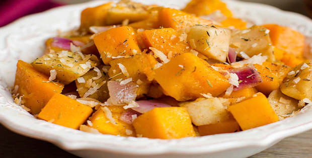 A Very Savory Slow Cooker Squash and Apple