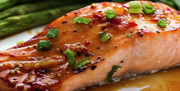 Crock Pot Salmon With Sweet Chili Glaze