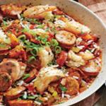 Slow Cooker Andouille Sausage Jambalaya with Shrimp