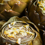 Slow Cooker Garlic Lemon Butter Artichokes