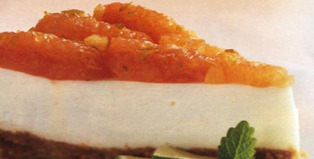 Slow Cooker Pink Grapefruit Cheesecake