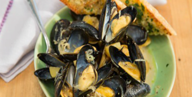 Slow Cooker Mussels With A Creamy Wheat Beer And German Mustard Sauce