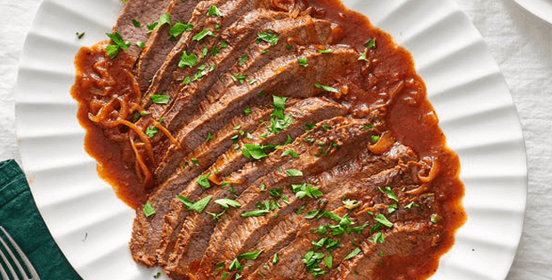 Sweet And Tangy Slow Cooker Brisket