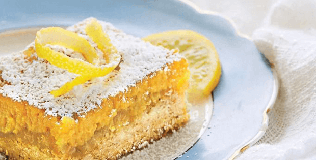 Slow Cooker Lemon Bar Cake